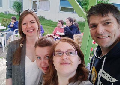 9 Volunteers at MERU Vlodrop Staff
